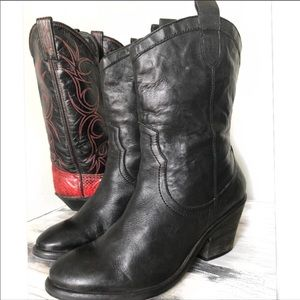 Sam Edelman Shoes - SAM EDELMAN BLACK WESTERN STYLE COWBOY BOOT 8.5